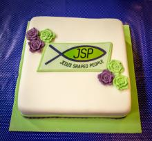 Cake celebrating the launch of the JSP Trust