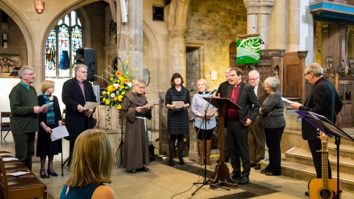 The JSP trustees are dedicated at Bradford Cathedral
