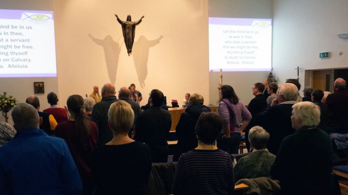 Photo of people gathered at St Michael's Cottingley