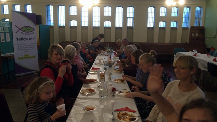 Photo of the JSP Lite supper and celebration at St. John's Thorpe Edge