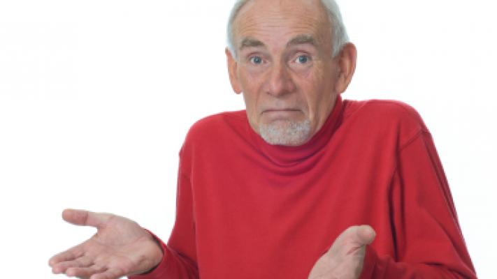 Photo of a man shrugging